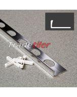 8mm Straight Edge Aluminium Tile Trim - Chrome