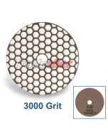 Rubi Diamond Dry Polishing Pad - 3000 Grit - Brown
