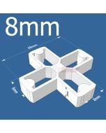 8mm x Cross Tile Spacers - bag 500