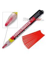 Trades Marker Pencil - Red (Including 12 Refills)
