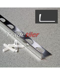 10mm Straight Edge Aluminium Tile Trim - Chrome