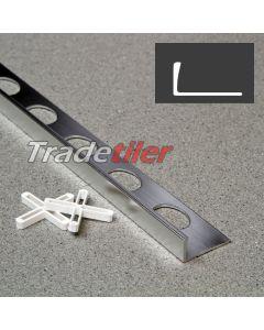 10mm Straight Edge Aluminium Tile Trim - Satin Chrome
