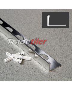 12mm Straight Edge Aluminium Tile Trim - Chrome
