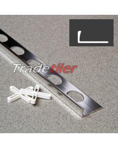 6mm Straight Edge Aluminium Tile Trim - Chrome
