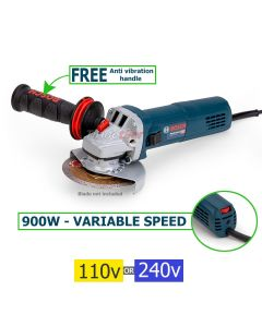 Bosch GWS 9-115 S Variable Speed Angle Grinder (115mm) (select voltage)