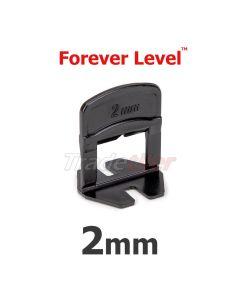 Forever Level 2mm Tile Levelling Clips - bag 100