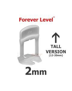 Forever Level 2mm TALL Tile Levelling Clips - bag 100