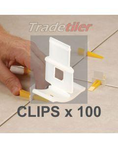 LASH Tile Levelling Clips - (bag of 100)