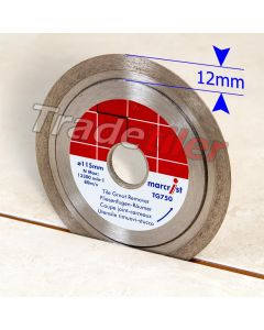 Marcrist TG750 Tile Grout Removing Diamond Wheel / Blade (115mm dia - 22.2mm bore)