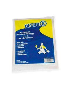 Polythene Dust Sheet 3.6m x 2.7m (disposable)