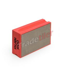 Rubi Diamond Hand Polishing Pad - 200 Grit - Red