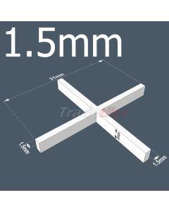 1.5mm Long Leg Cross Tile Spacers by Rubi - bag 1000