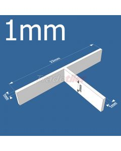 1mm T-type Tile Spacers - bag 500