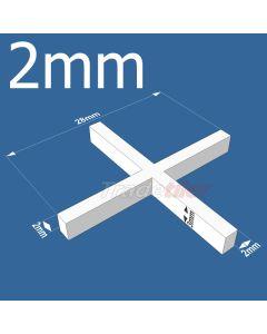 2mm Long Leg Cross Tile Spacers - bag 1000
