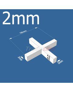 2mm Cross Tile Spacers - bag 1000