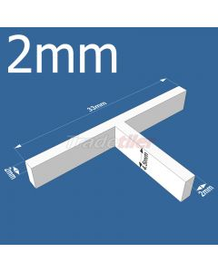 2mm T-type Tile Spacers - bag 500