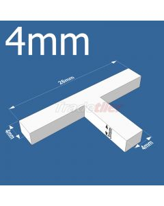 4mm T-type Tile Spacers - bag 500