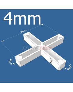 4mm Long Leg Cross Tile Spacers - bag 1000