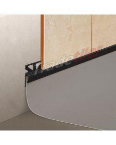 Dural Wall Tile to Vinyl Skirting Tile Trim - Black