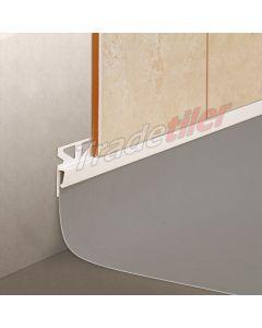 Dural Wall Tile to Vinyl Skirting Tile Trim - White